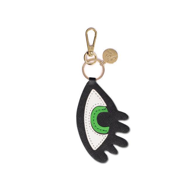 Bag charm eye green