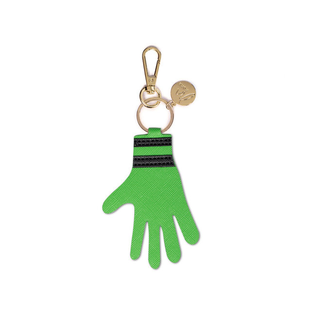 Bag charm hand green