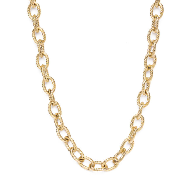 Ketting chain big luxe goud