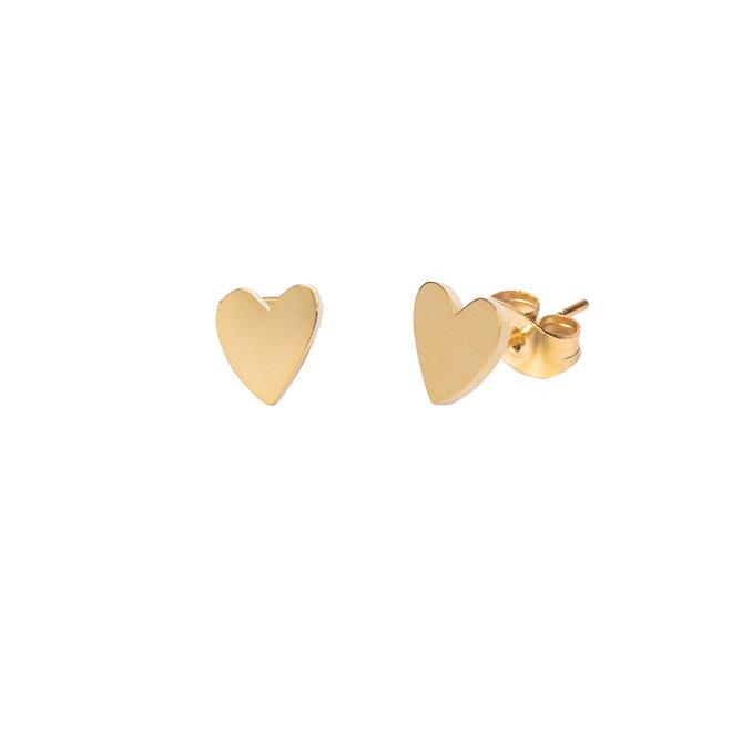 Oorknopjes heart goud
