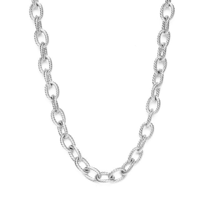 Ketting chain big luxe zilver