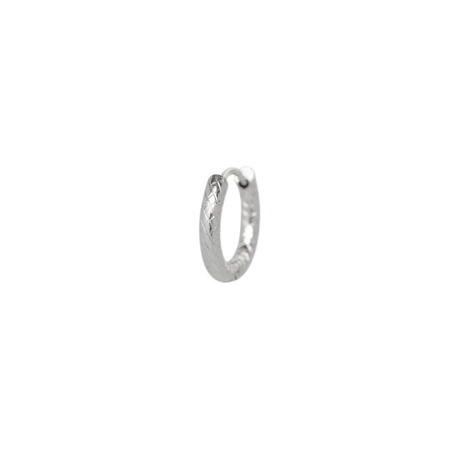 Oorring chunky small zilver
