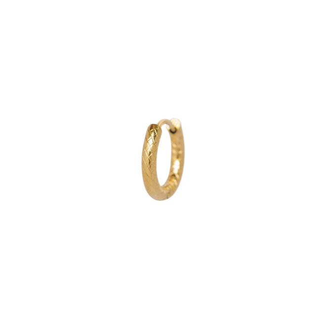 Oorring chunky small goud