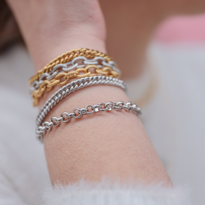 Armband chain big luxe goud
