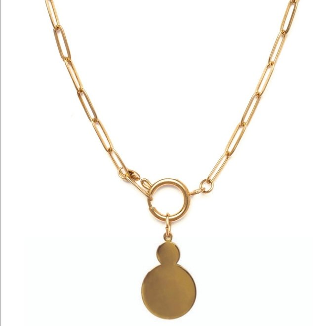 Ketting chain big goud