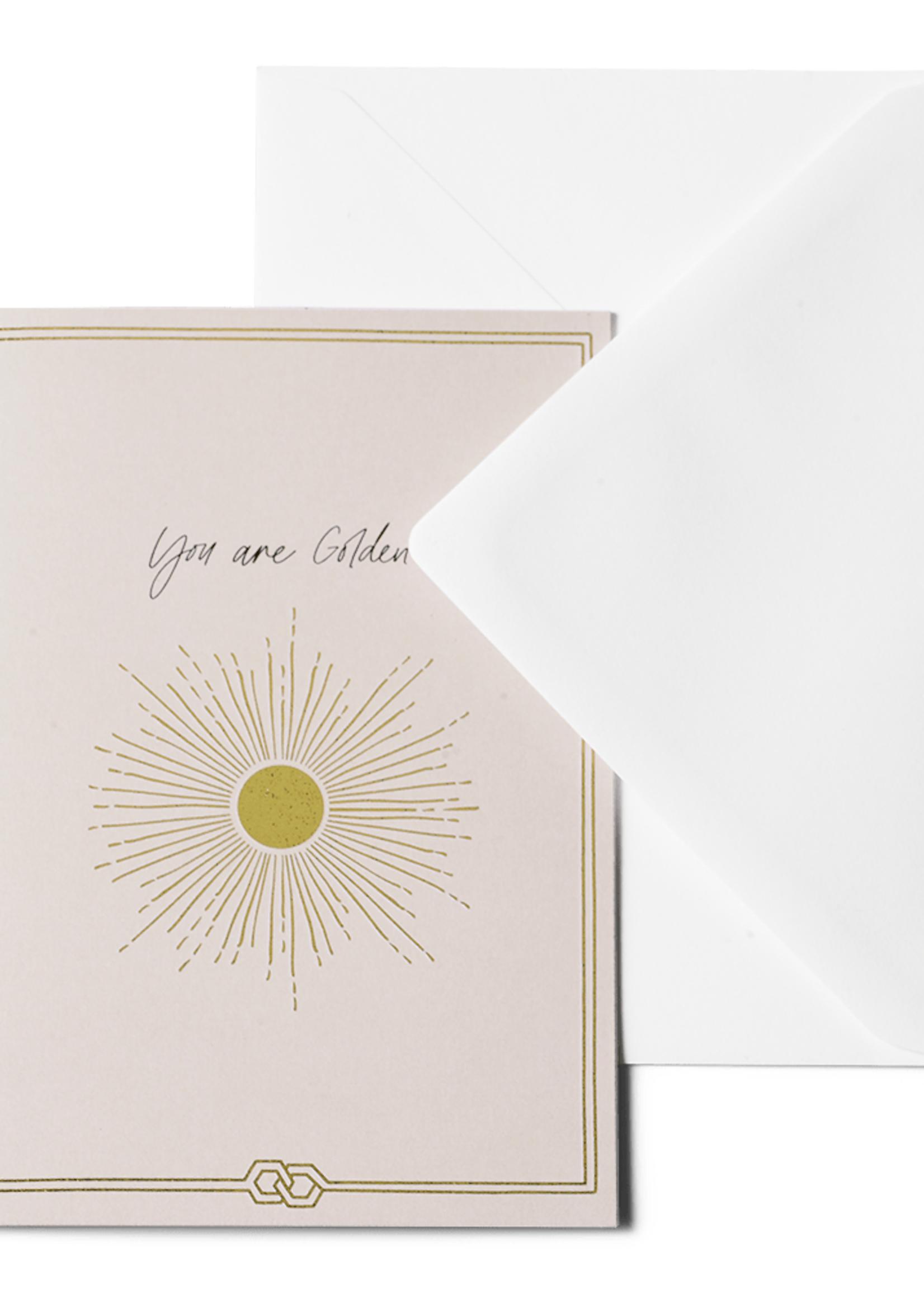 Me & Mats Me & Mats Greeting Card You Are Golden