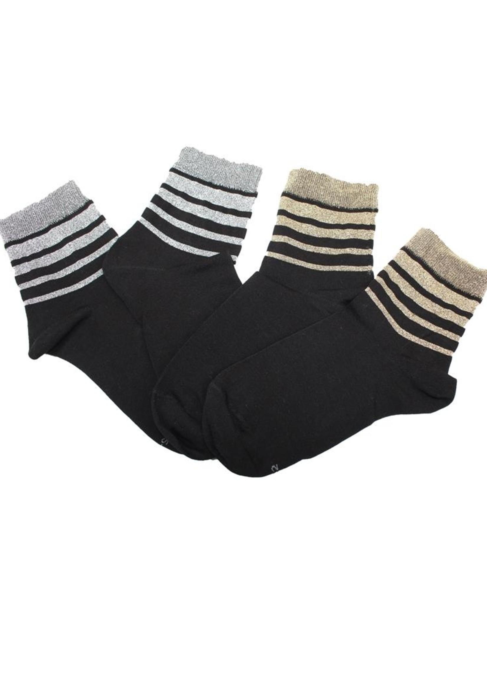 Cette Cette Silver Stripes Socks