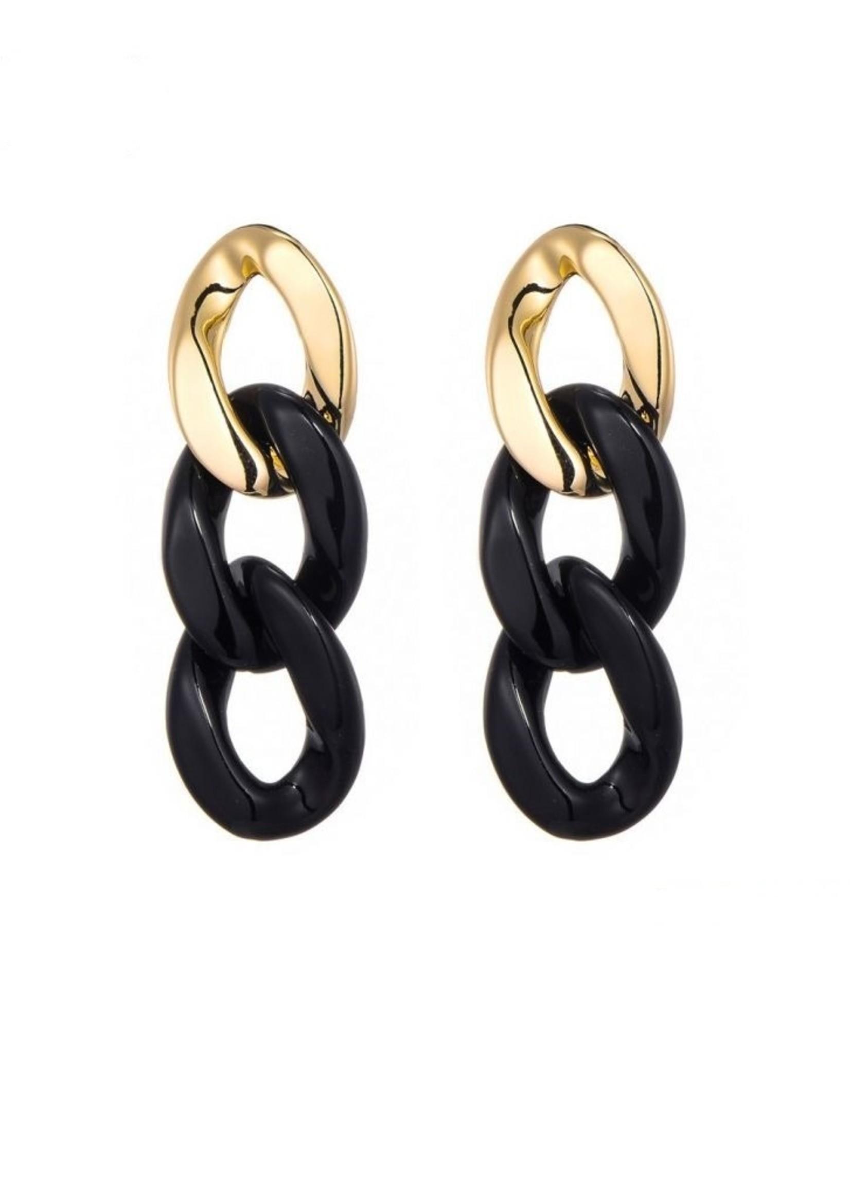 Oorbellen Golden Chain
