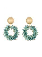 Oorbellen Green Beads