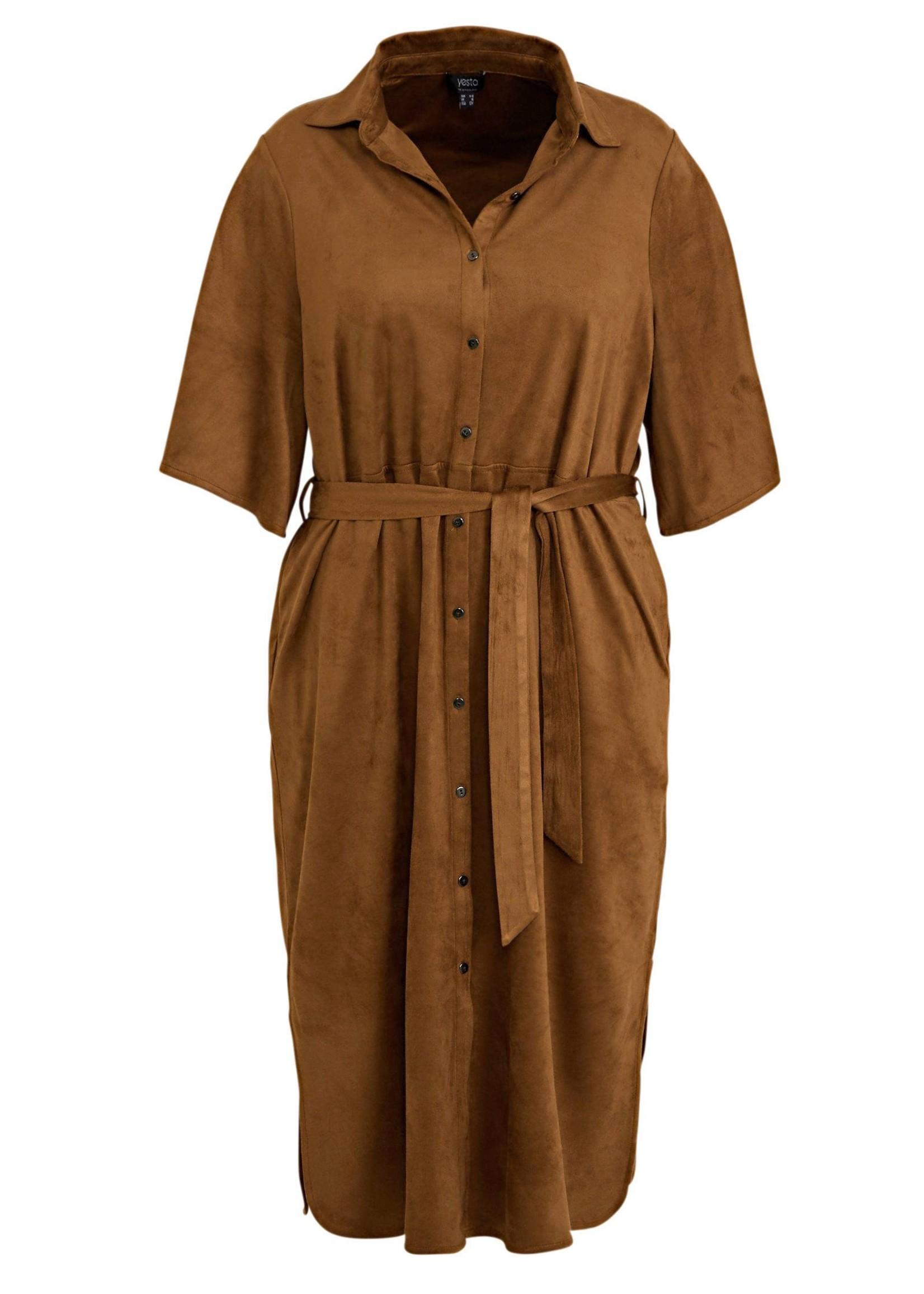 Yesta Yesta Velicia Camel Dress