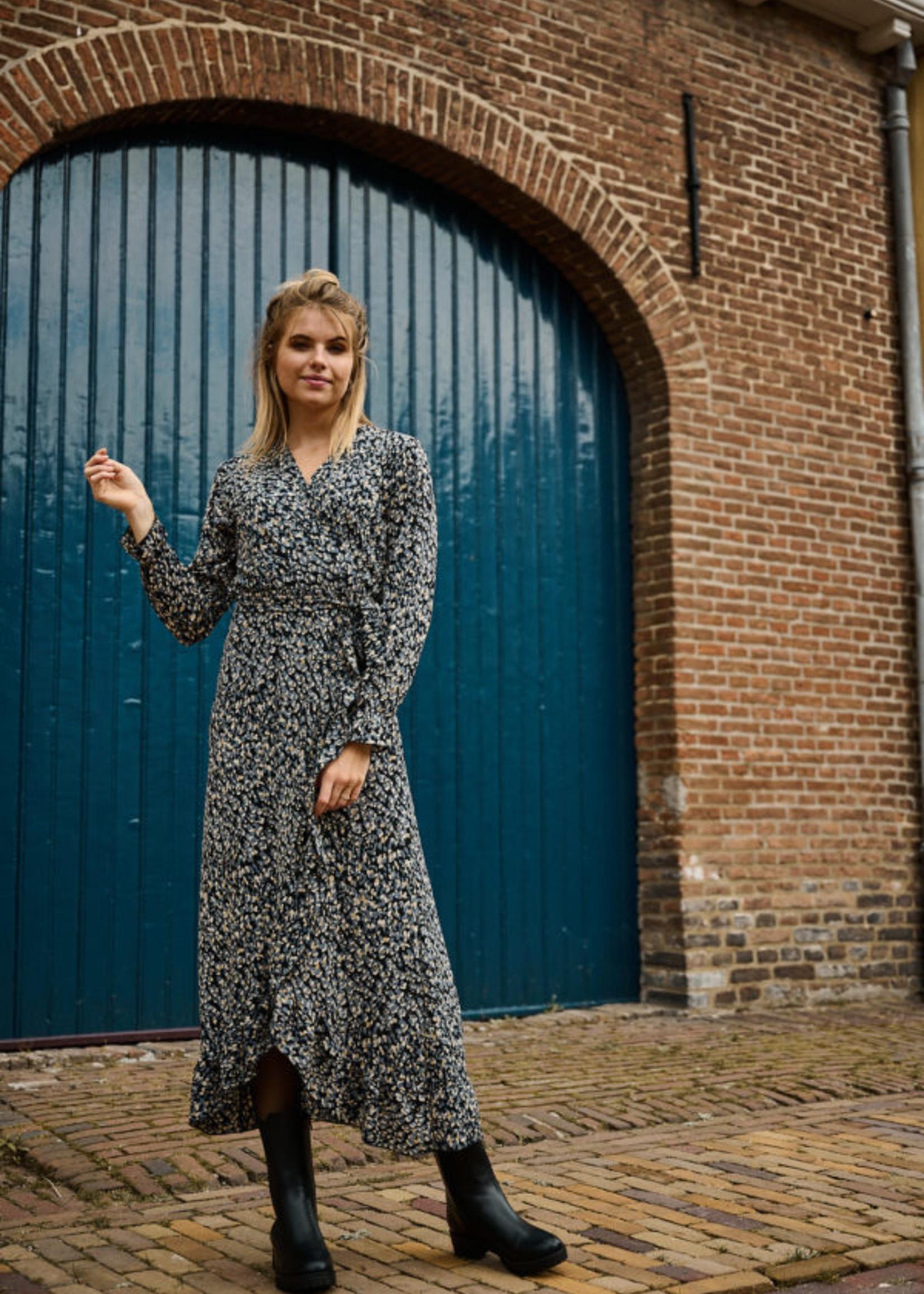 Fos Amsterdam Fos Amsterdam Bonnie Dress Panter Grey