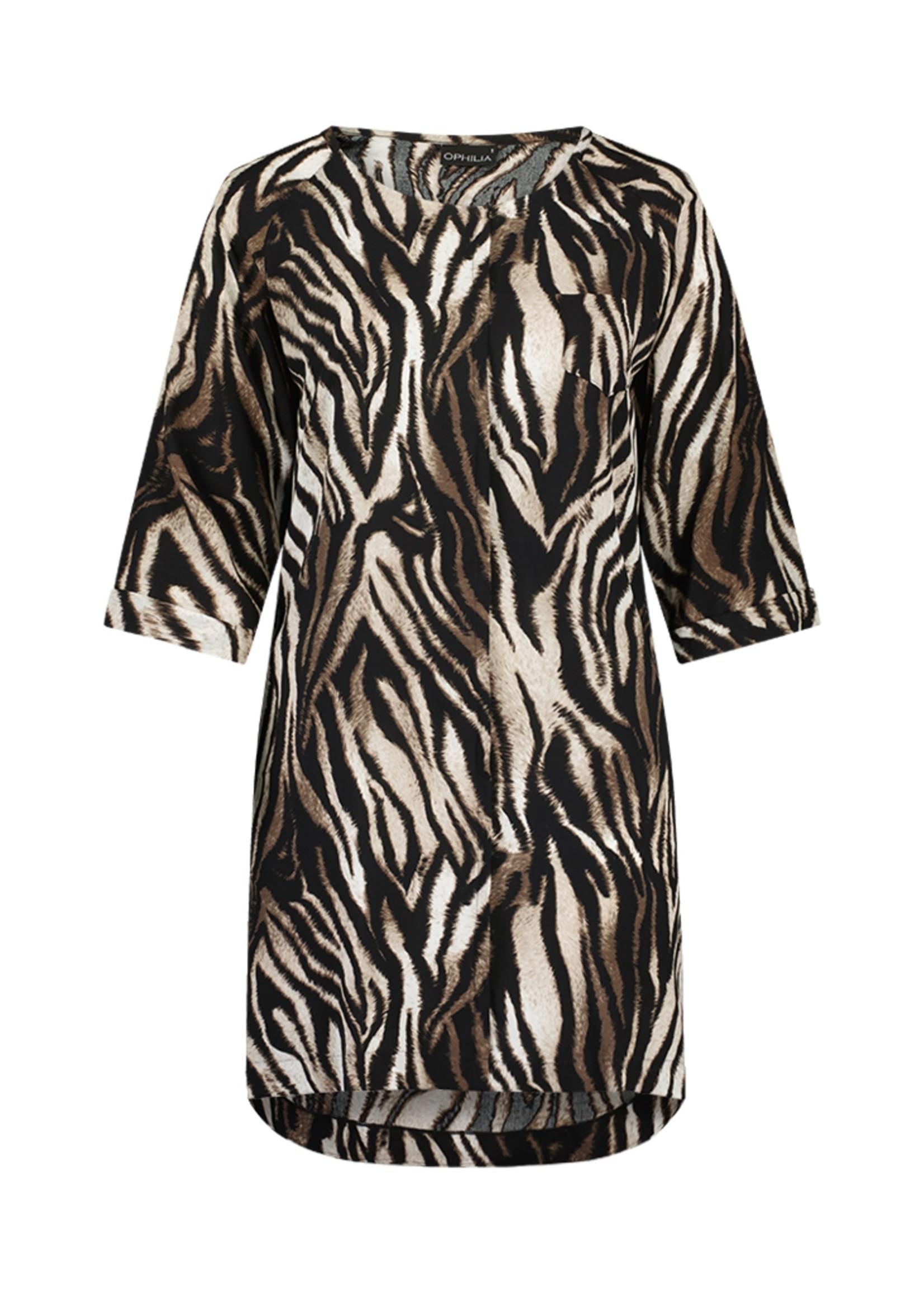 Ophilia Ophilia Pip Dress Safari Zebra