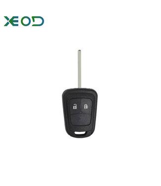 XEOD Opel sleutelbehuizing 2-knops