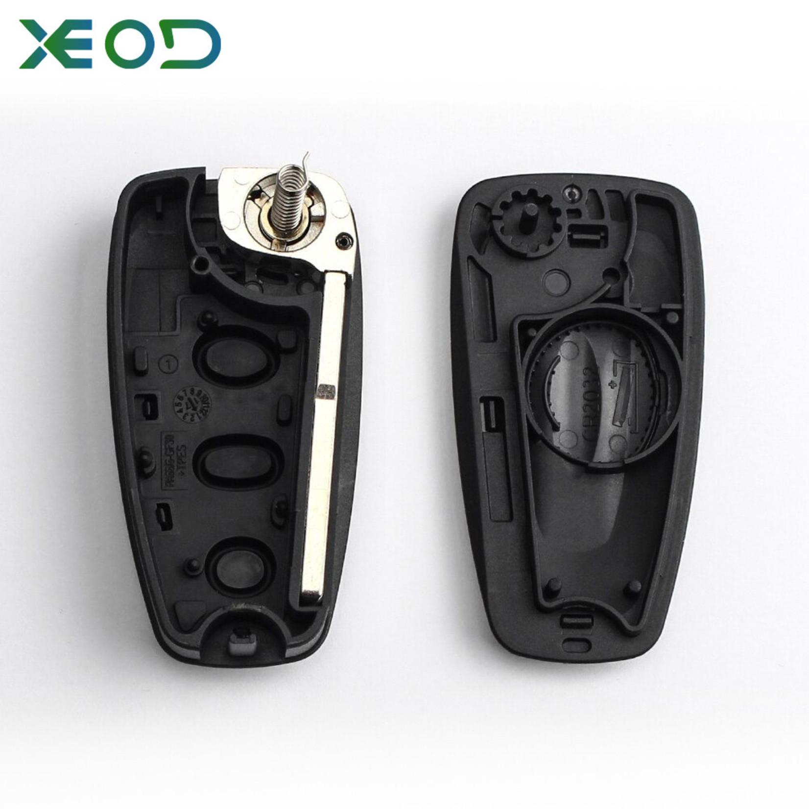 XEOD Ford klap sleutelbehuizing 3-knops model 2