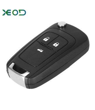 XEOD Chevrolet klap sleutelbehuizing 3-knops