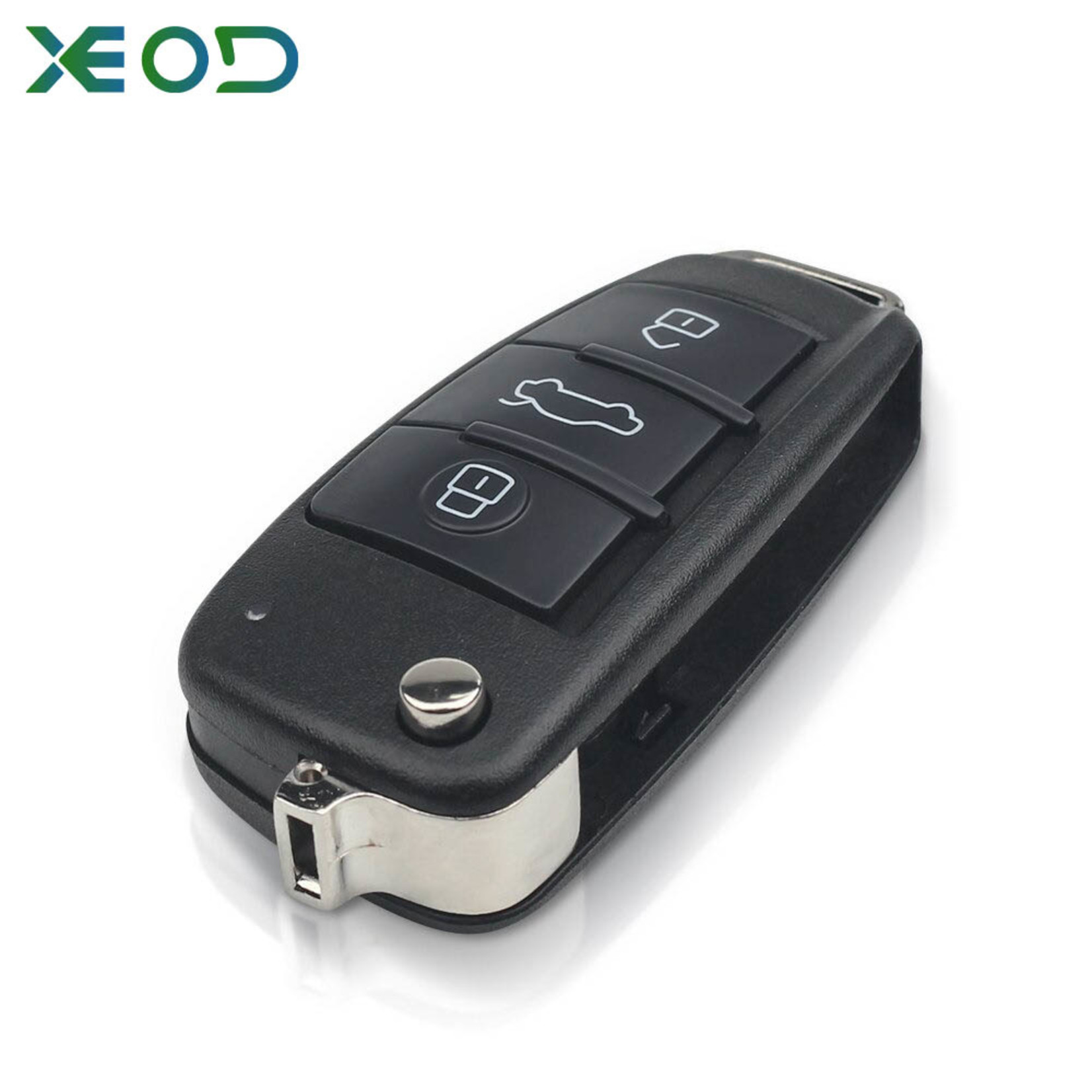 XEOD Audi klap sleutelbehuizing 3-knops