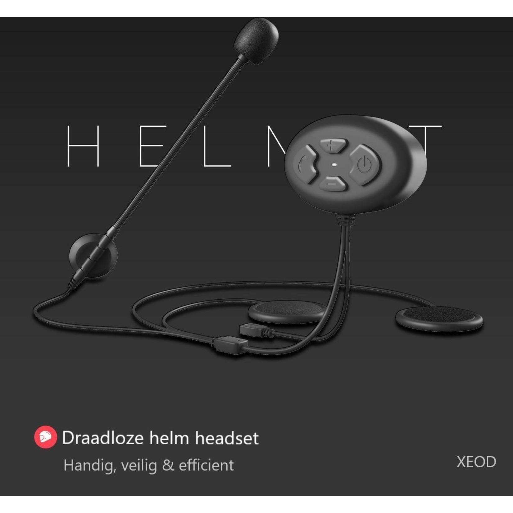 XEOD Headset met microfoon – Motorhelm headset – Motor accessoires – Handsfree bellen – Motor - Scooter V2