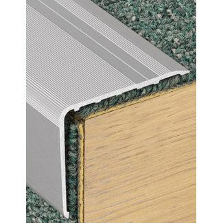 Huis&Vloer Aluminium Geribbelde Trapneuzen 18mm x 2700mm