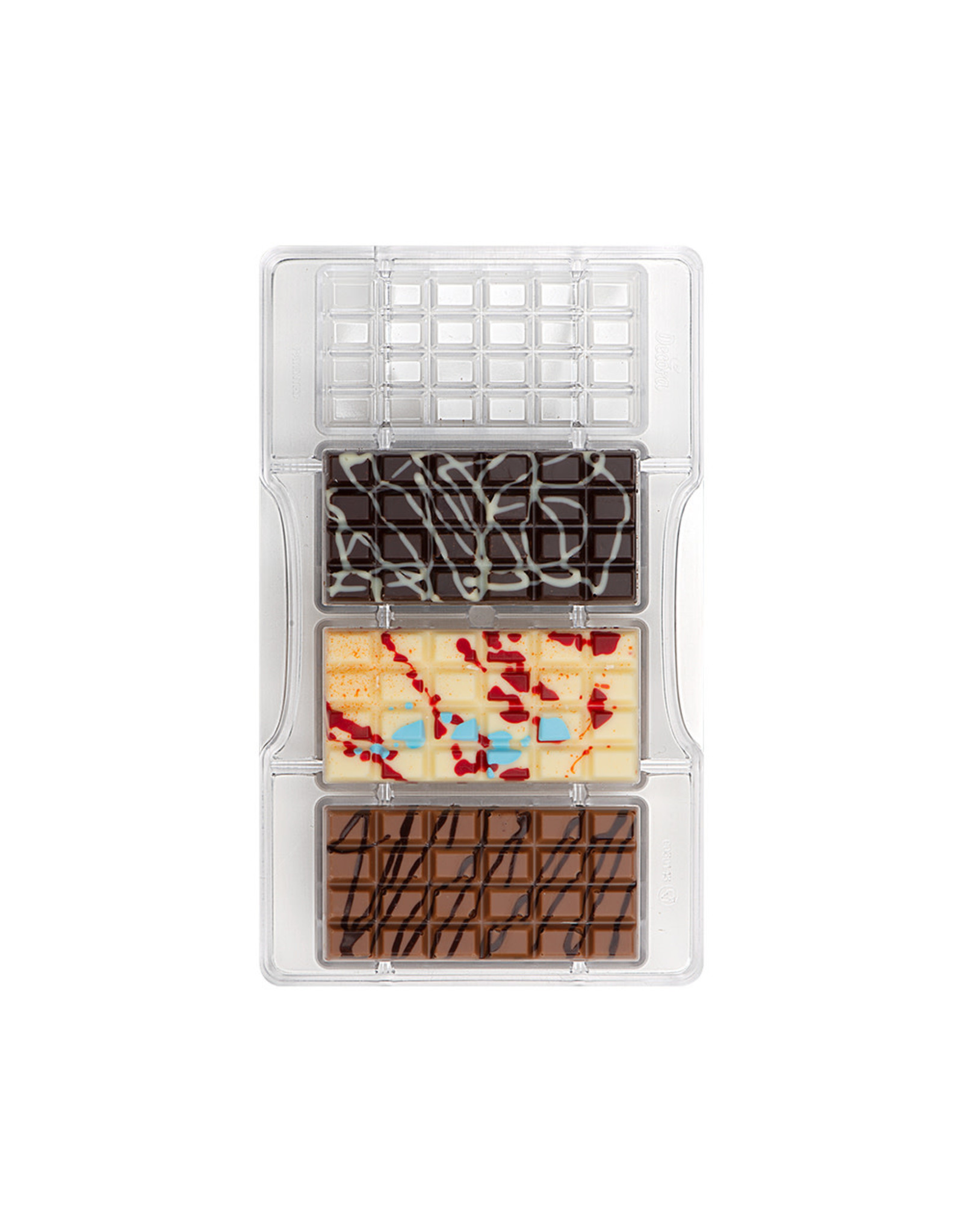 Decora Chocoladevorm polycarbonaat 4 repen