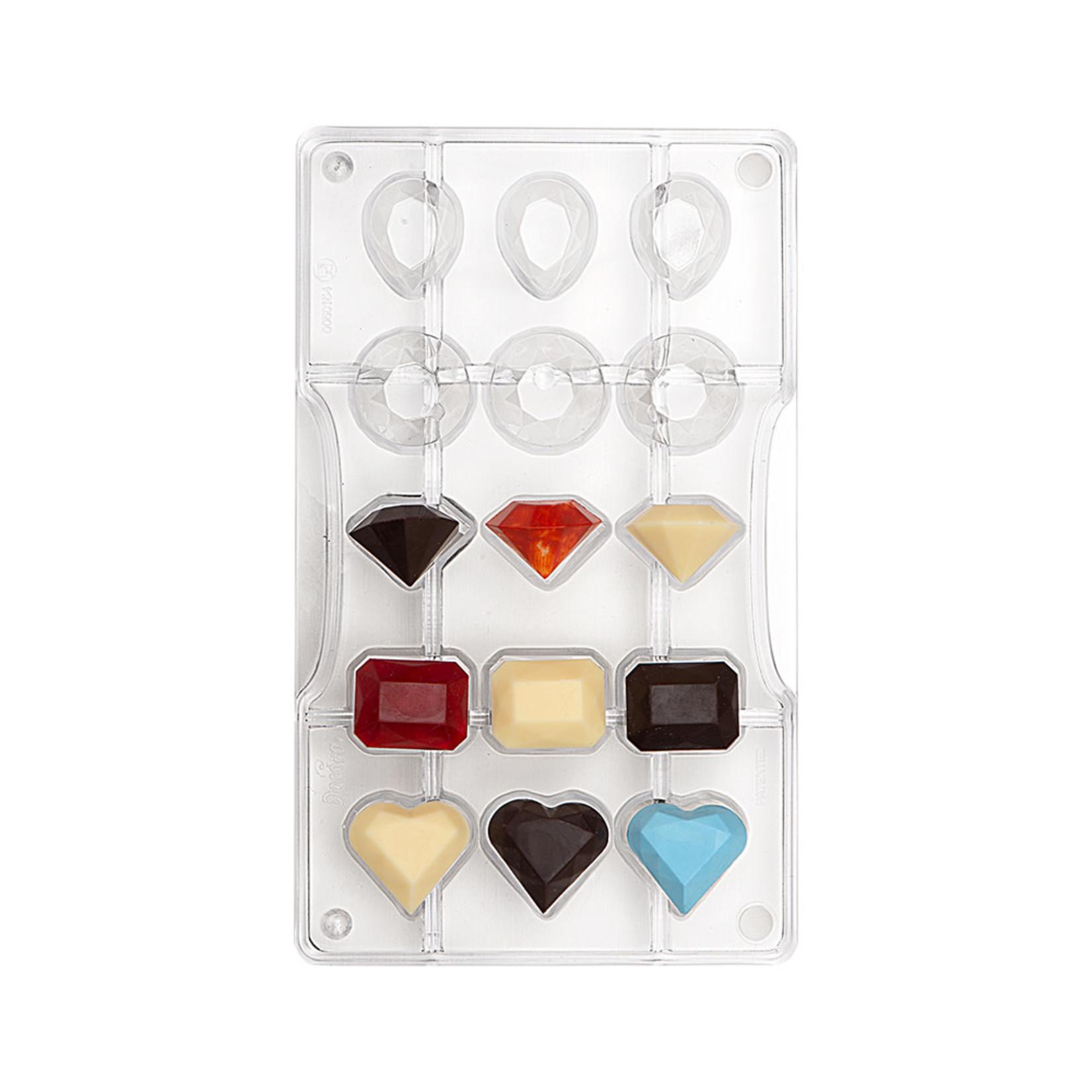 Decora Chocoladevorm polycarbonaat edelstenen