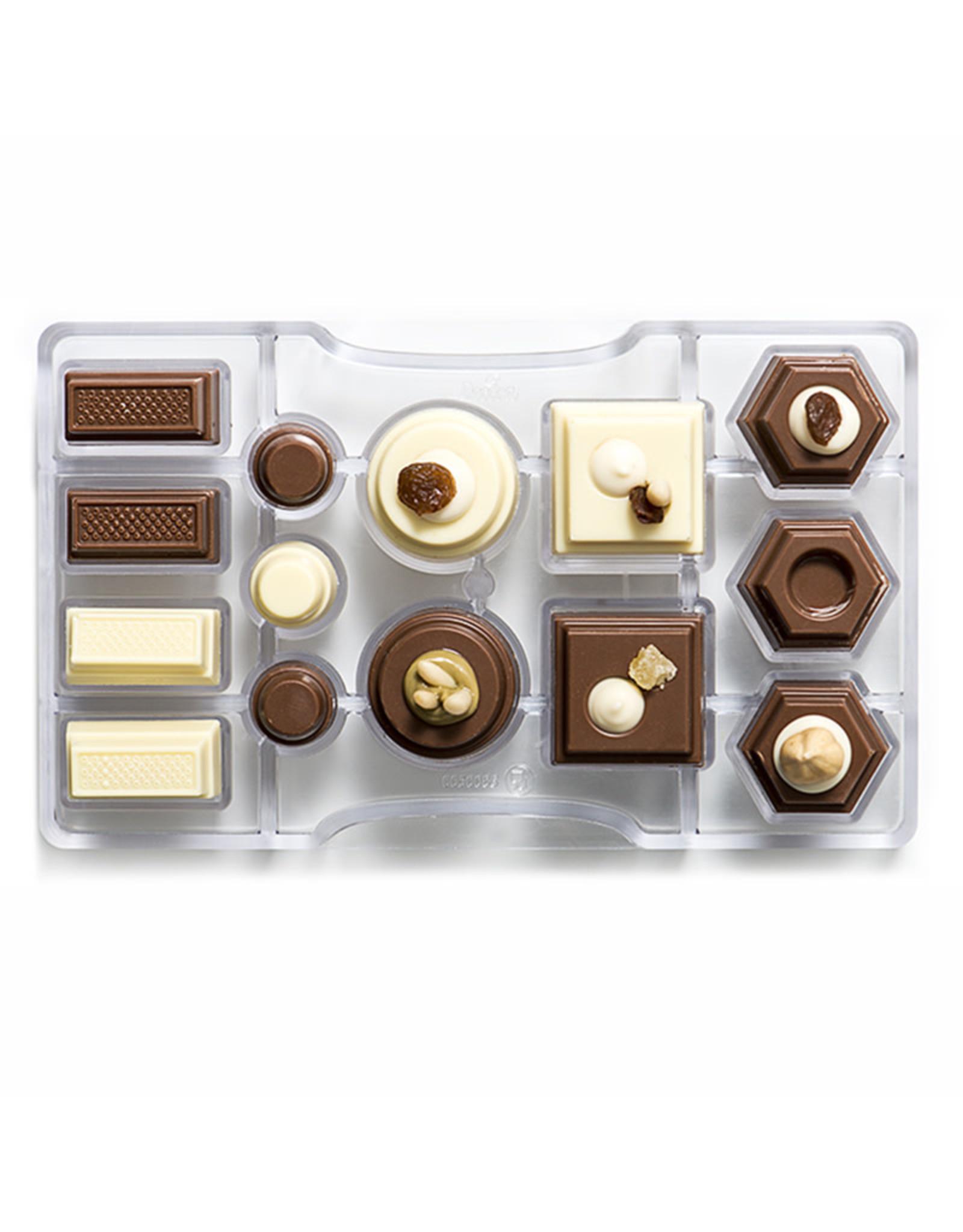 Decora Chocoladevorm polycarbonaat geometrisch