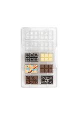 Decora Chocoladevorm polycarbonaat minirepen