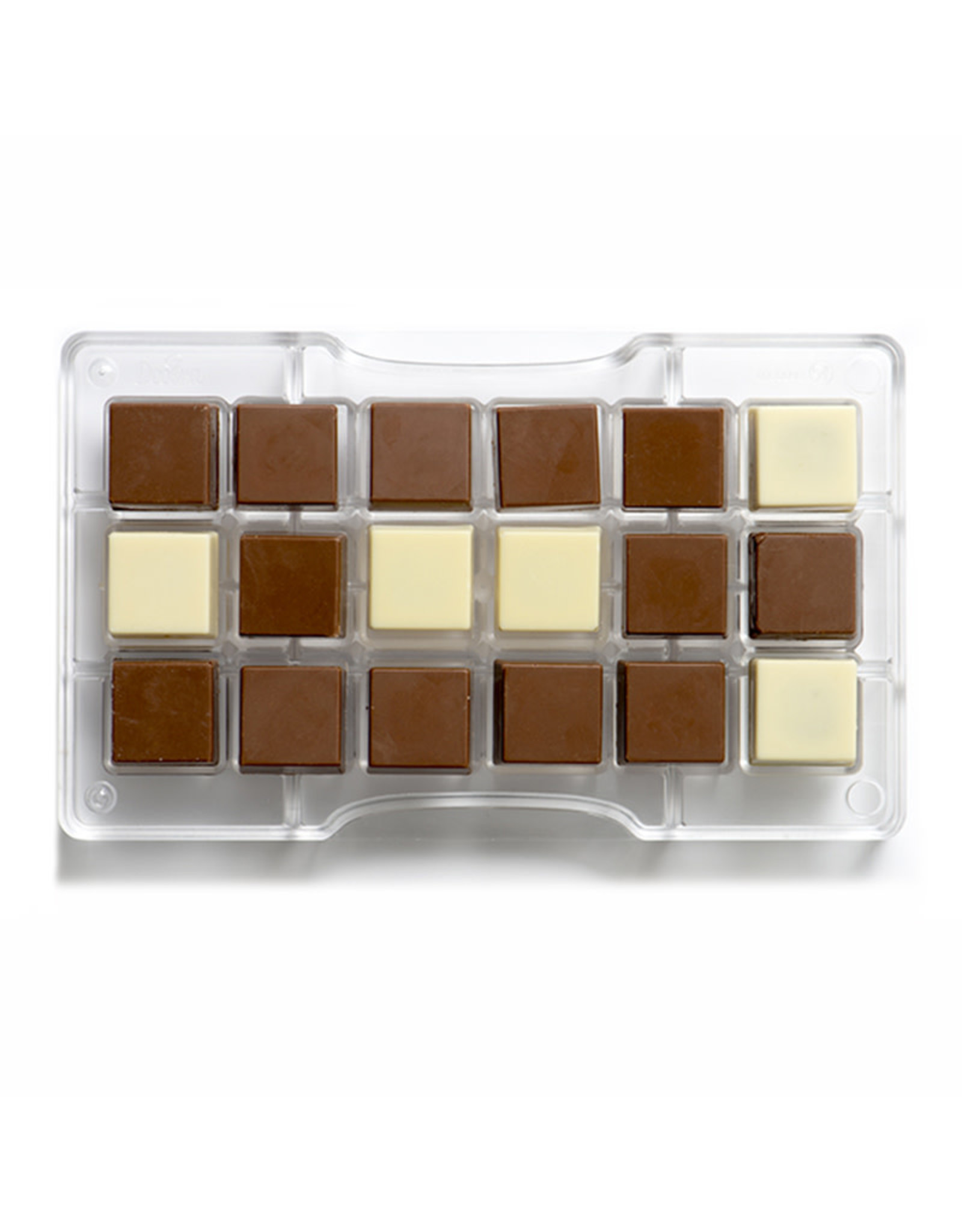 Decora Chocoladevorm polycarbonaat vierkant 25x25mm