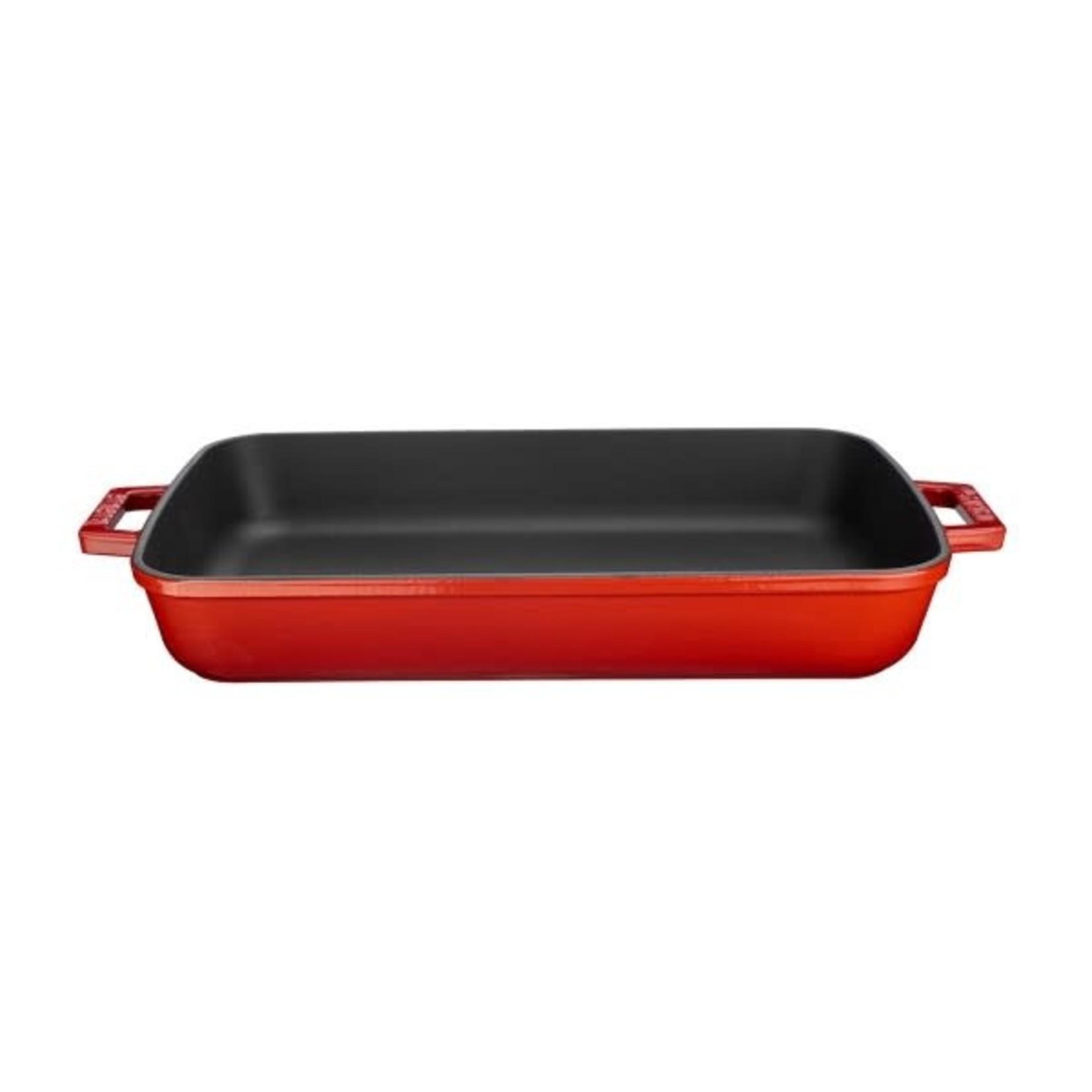Lava Gietijzeren braadslede 22x30cm rood