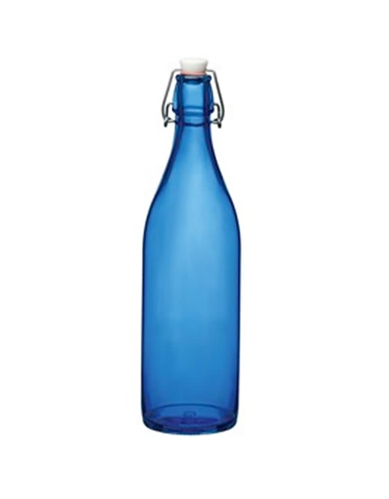 Beugelfles 1L blauw