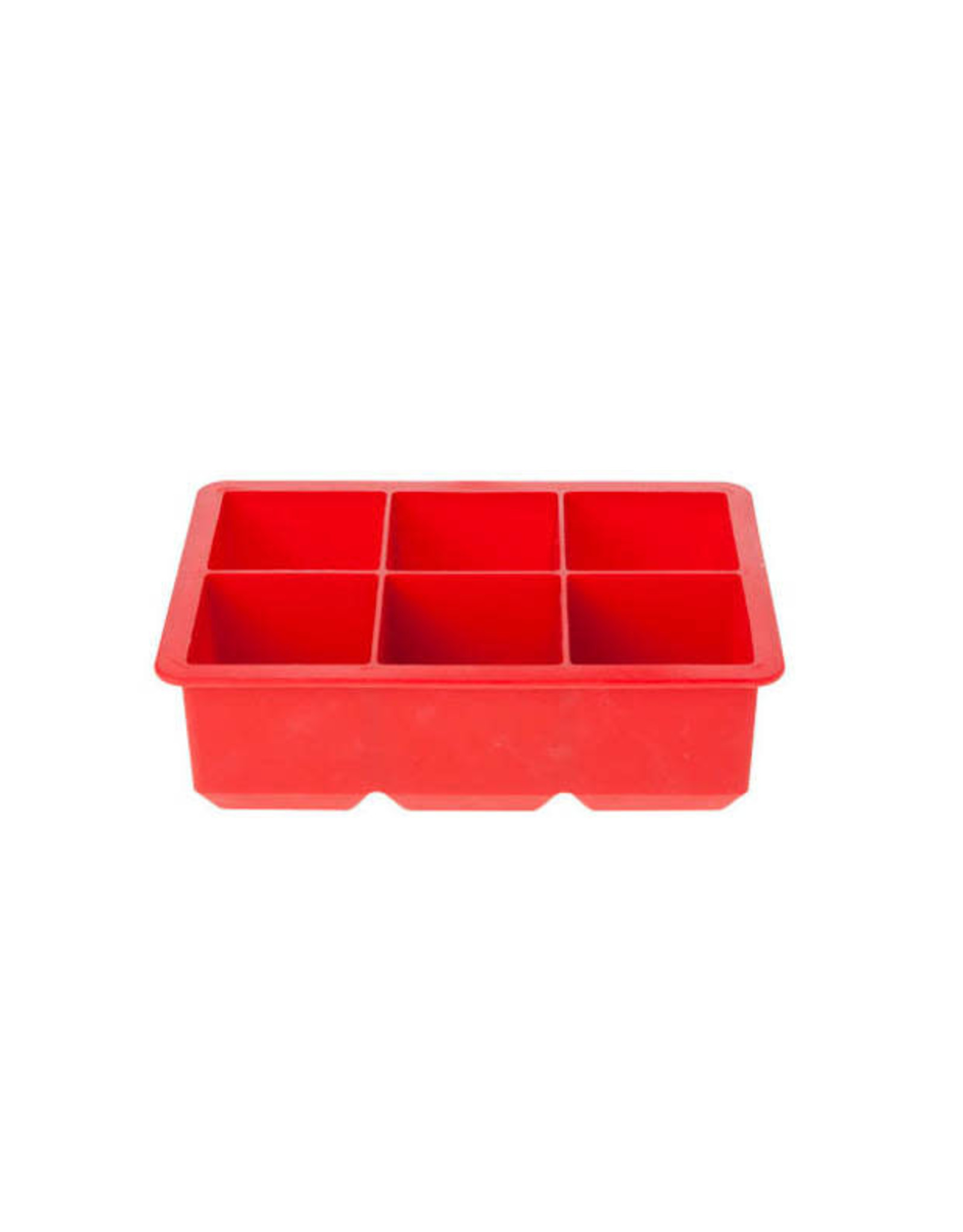 C&T Ijsblokjesvorm groot siliconen rood 6/st