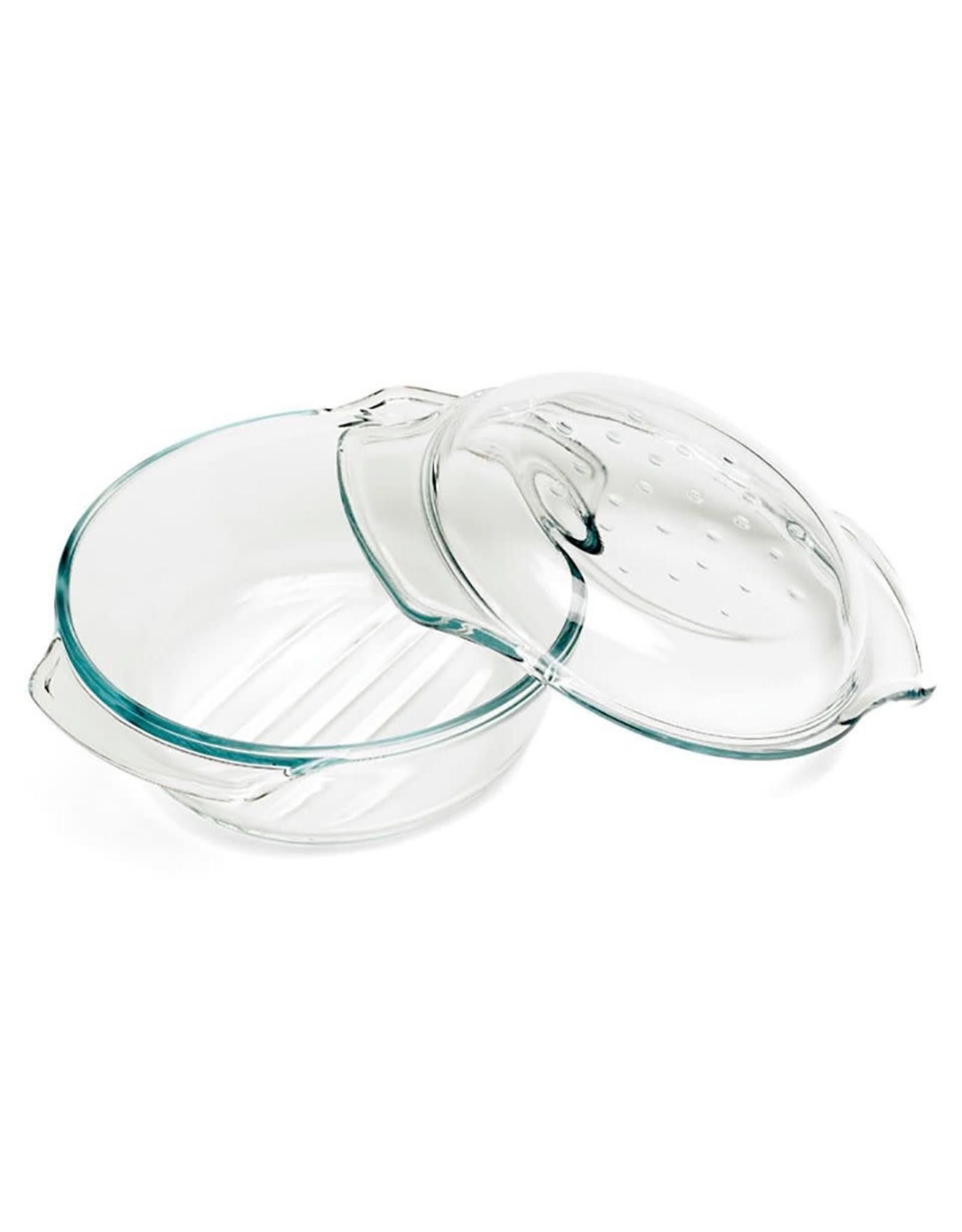 C&T Ovenschotel glas rond met deksel 2,4L 22x10,5cm