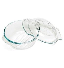 Ovenschotel glas rond met deksel 2,4L 22x10,5cm
