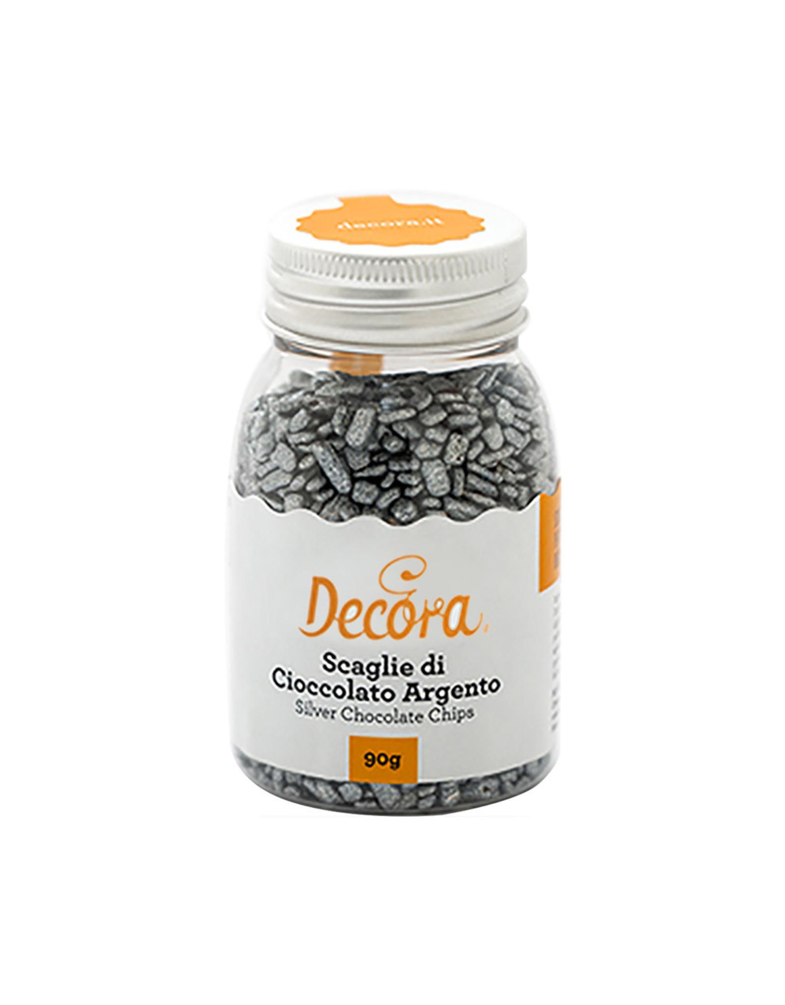 Decora Chocoladestrooisel zilver 90g