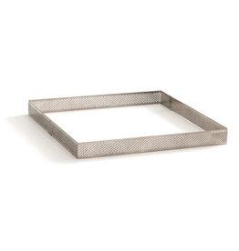 Decora Bakrand geperforeerd RVS vierkant 15x15x3,5