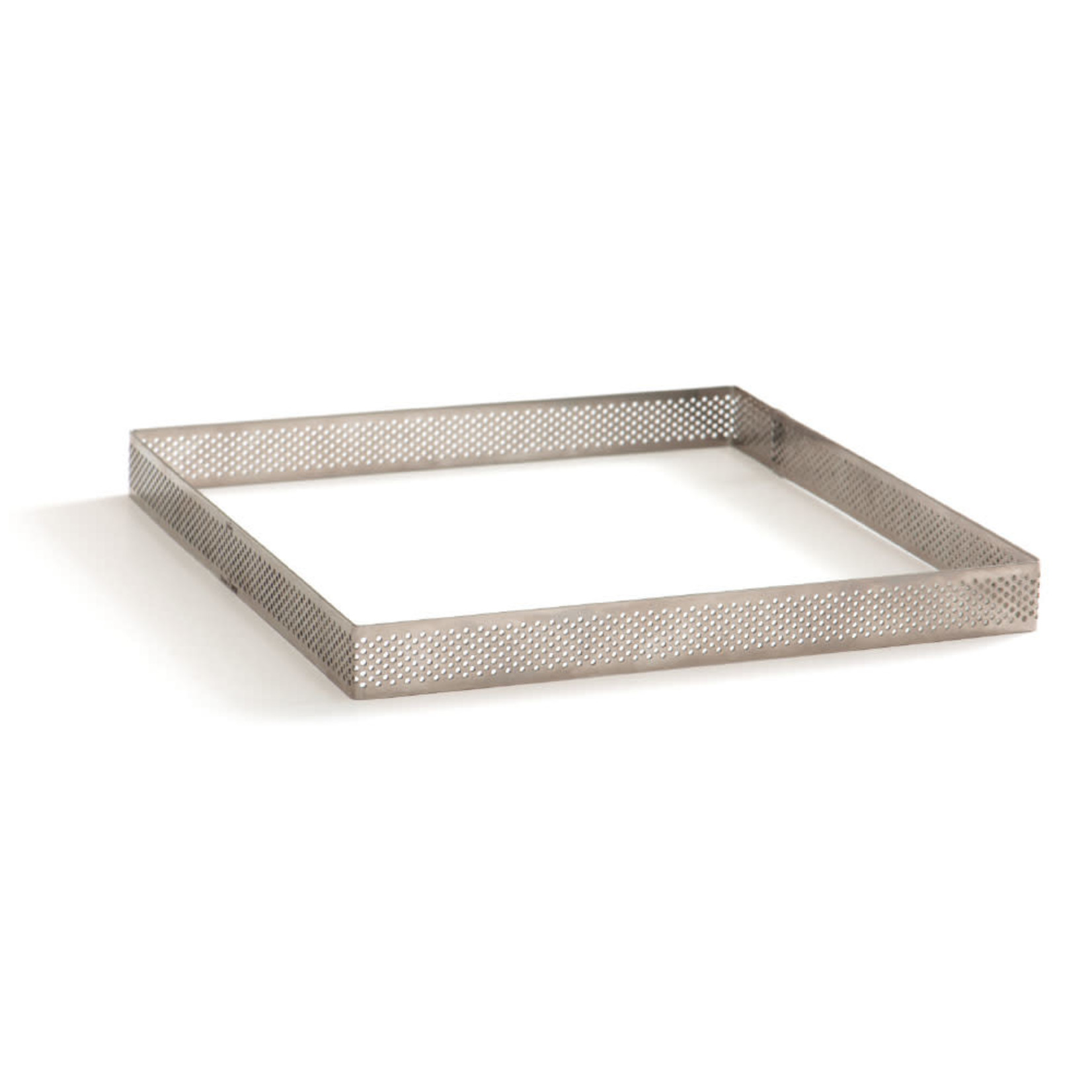 Decora Bakrand geperforeerd RVS vierkant 10x10x3,5