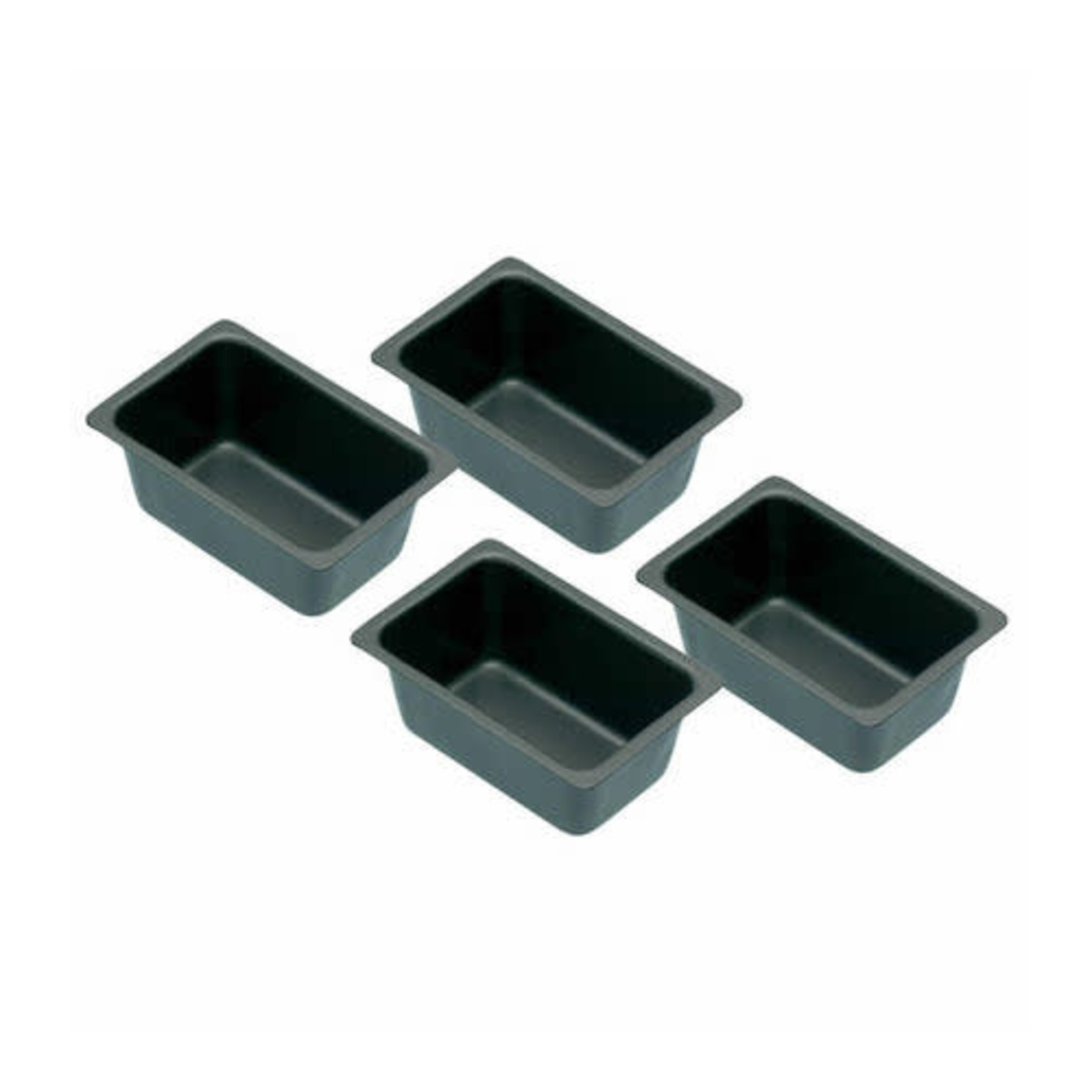 Kitchencraft Cakevorm mini 7x4,5x3cm 4 stuks