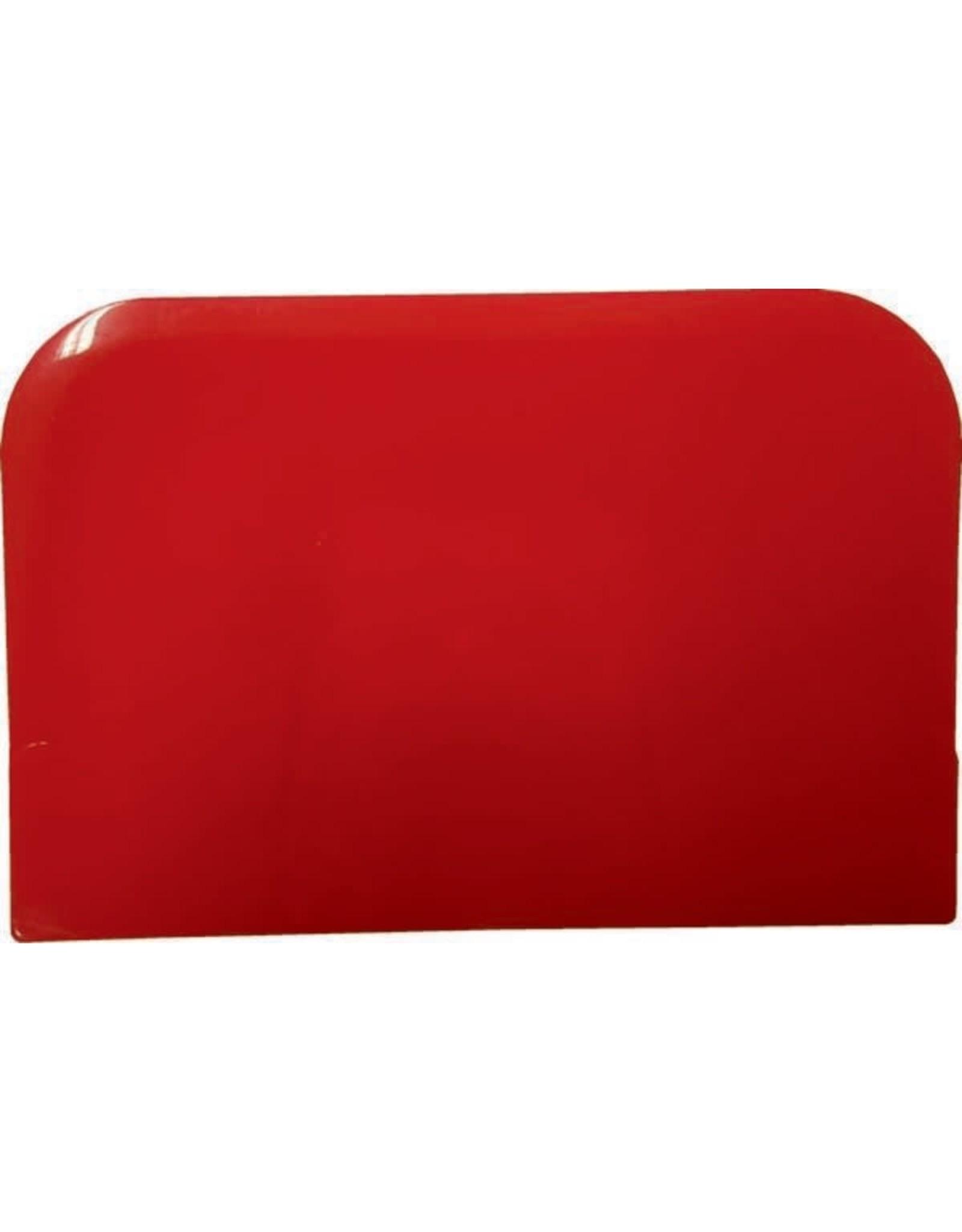 Koswa Deegschraper rechthoek rood