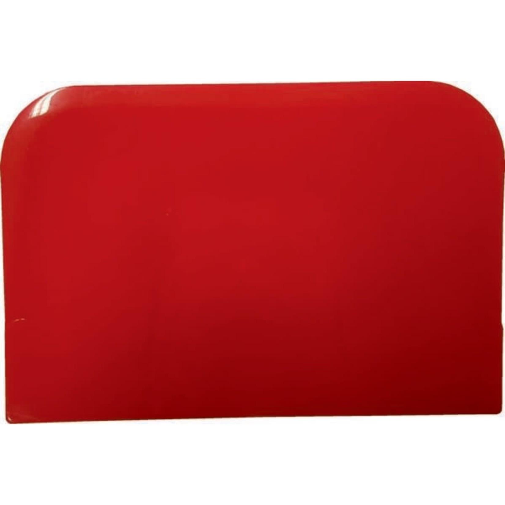 Deegschraper rechthoek rood
