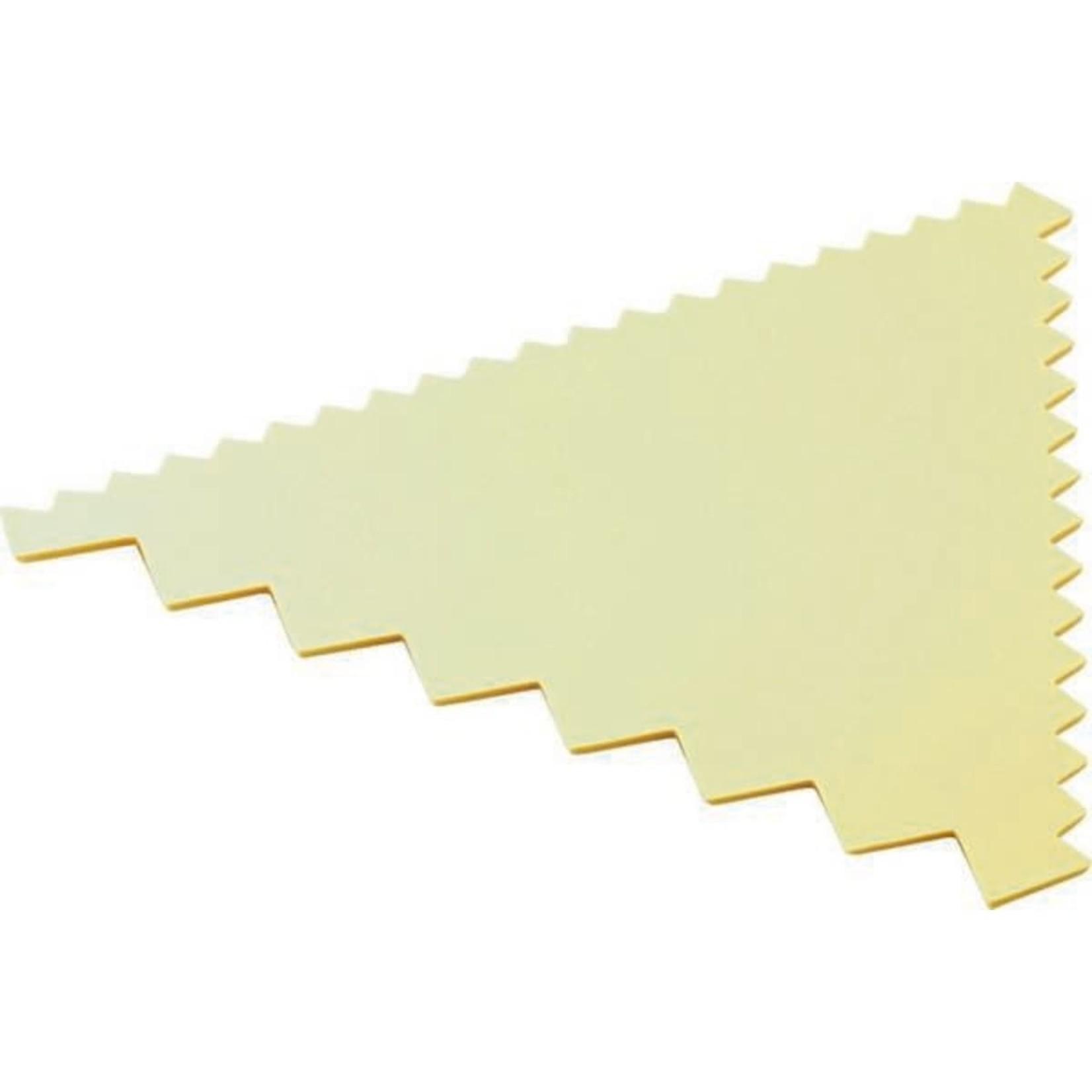 Deegkam 3-zijdig geel
