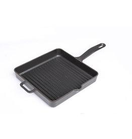 Sürel Grillpan vierkant 30cm geëmailleerd gietijzer zwart