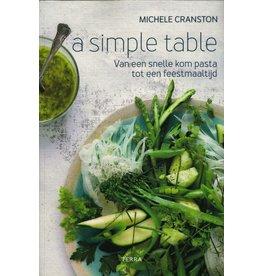 A simple table, Michele Cranston