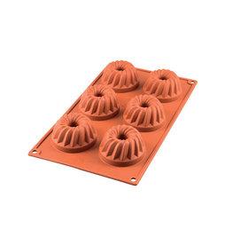 Silikomart Siliconen bakmat 6 x mini tulband 7cm