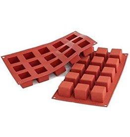 Silikomart Siliconen bakmat 15 x kubus 3,5cm