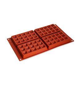 Silikomart Siliconen bakmat 4 x wafel 13x8cm