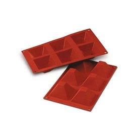 Silikomart Siliconen bakmat 6 x pyramide 7,1cm