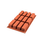 Silikomart Siliconen bakmat 12 x minicake 7,9cm
