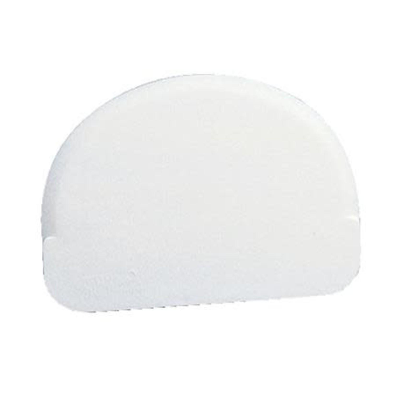 Martellato Deegschraper halfrond wit zacht 12x9cm