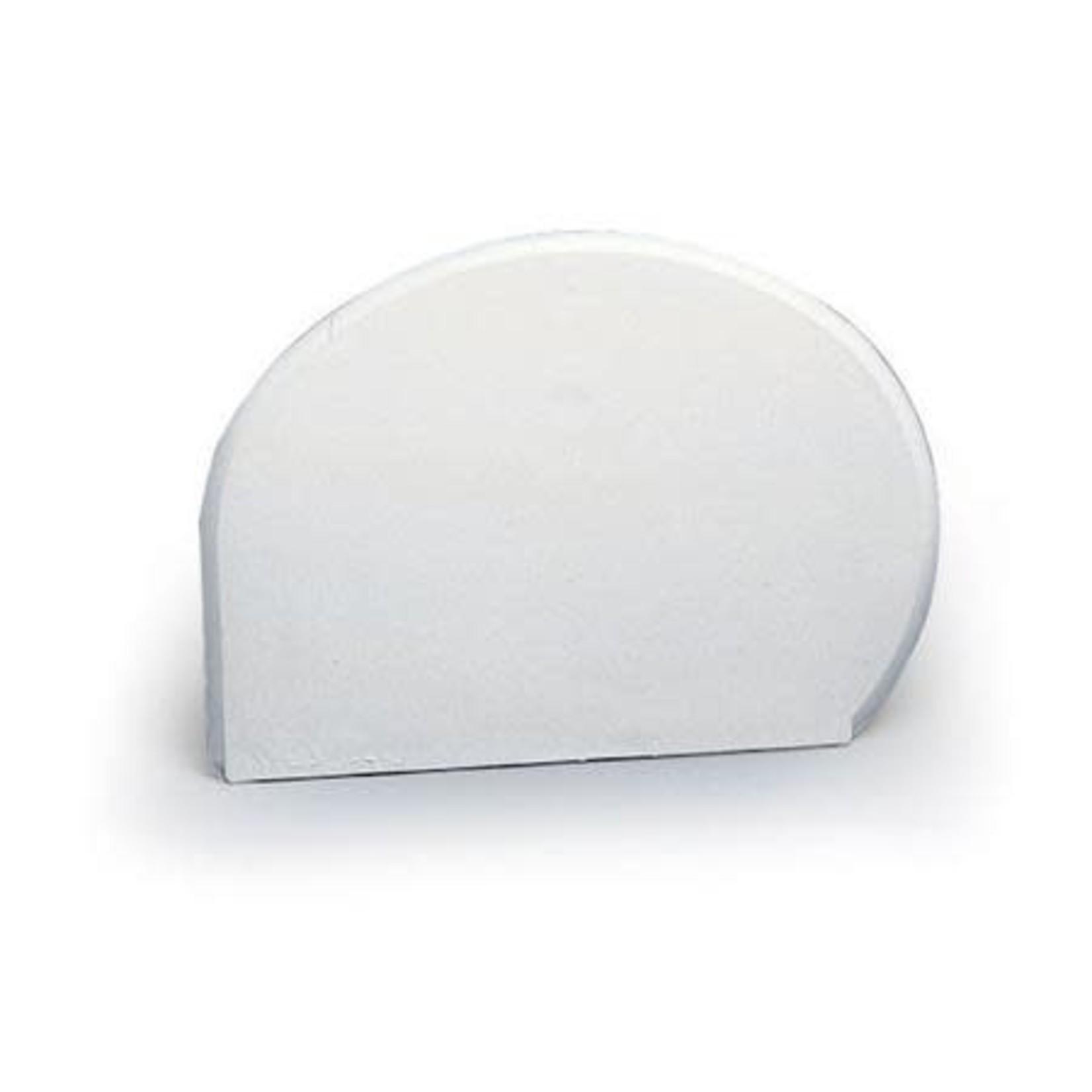 Martellato Deegschraper kwartrond wit hard 15x11cm