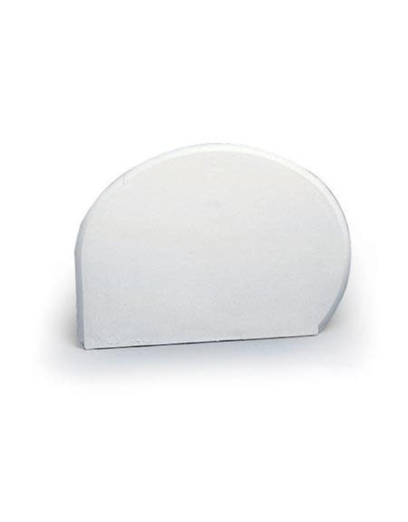 Martellato Deegschrapers kwartrond wit zacht 15x11cm