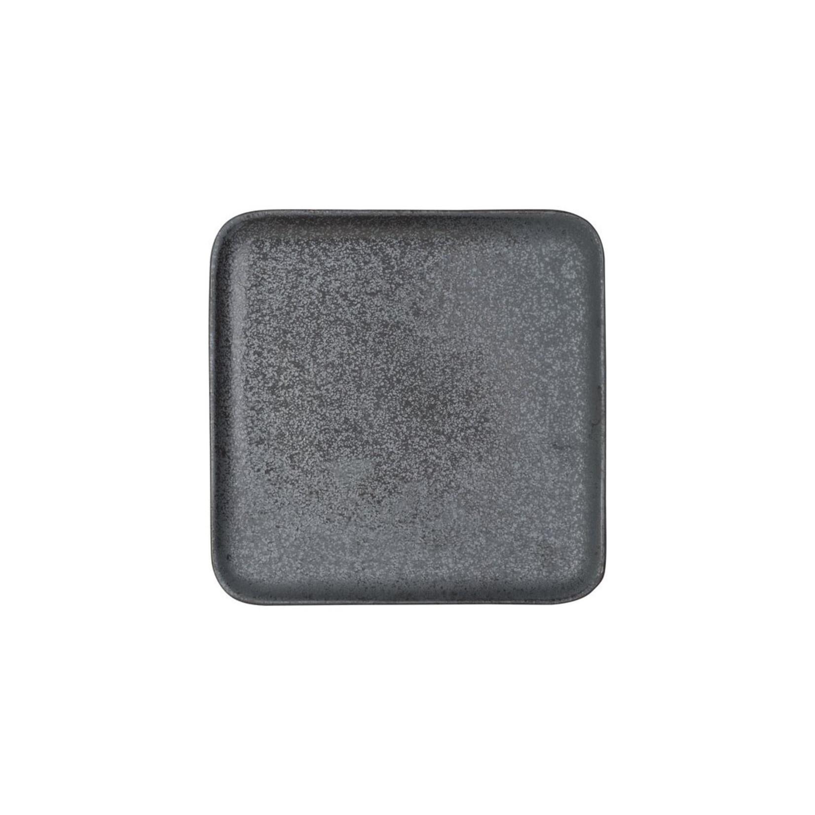 Bordje grijs 20x20cm aardewerk